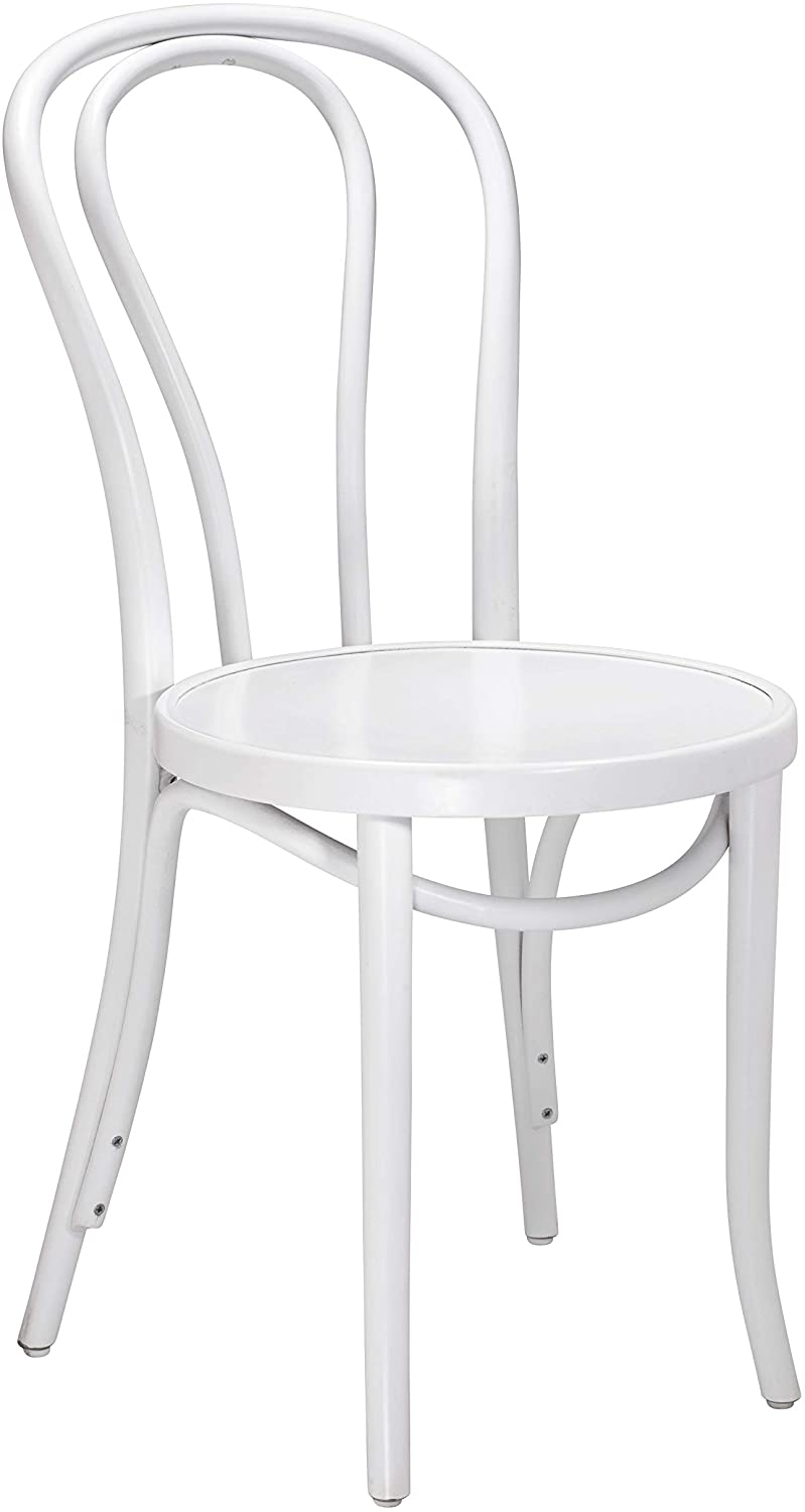 Bentwood 1018 Hairpin Side Chair | Handcrafted Wooden Michael Thonet Chair with a Beechwood Frame | Rustic Indoor Furniture Decor for Kitchen, Dining, Bedroom, Bistro, Vanity | White