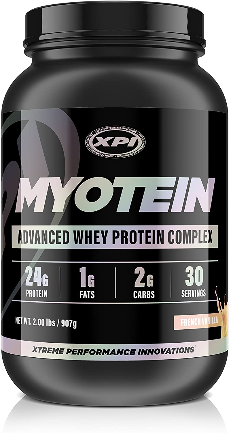 Myotein Protein Powder (French Vanilla, 2lb) - Advanced Whey Protein Powder Complex/Shake - Hydrolysate, Isolate, Concentrate and Micellar Casein
