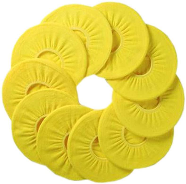 Blancho Bedding 10 Pcs Four Seasons Washable Potty Toilet Cover O-Type Toilet Seat Cover, Lemon Yellow