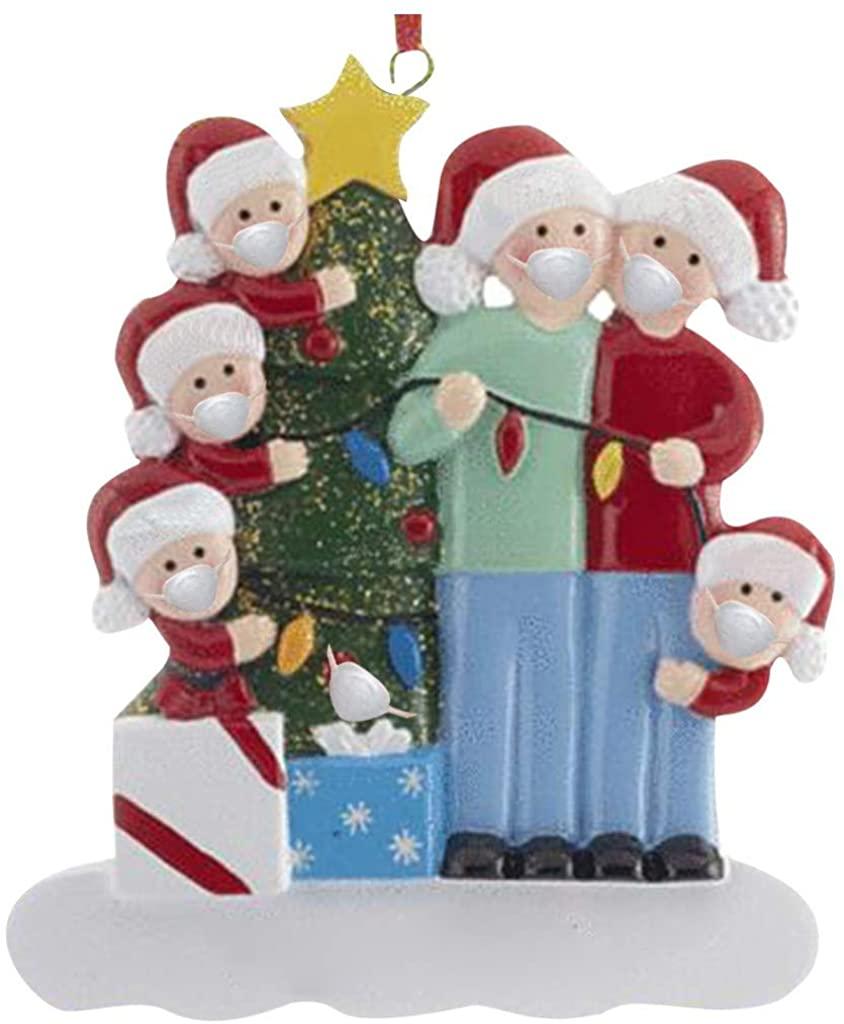 1/2/3PC Personalized DIY Family Christmas Tree Ornaments Pendant Decoration 2020 Creative Holiday Xmas Tree Pendant