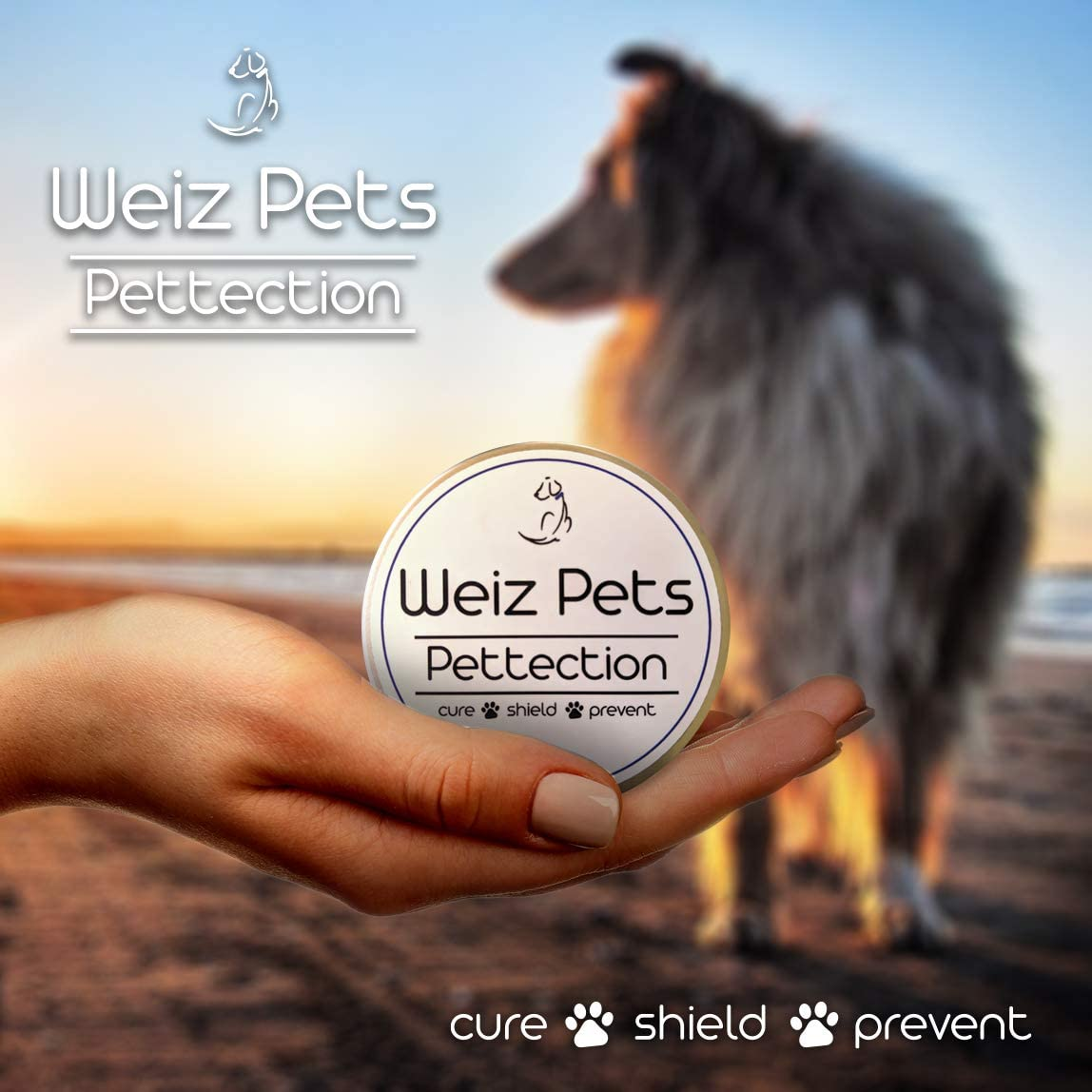 Emmel Weiz Pets Pettection Dog Paw Balm - Unscented Mess Free Natural and Organic Puppy, Dog, Kitten and Cat Pad Butter and Snout and Nose Soother