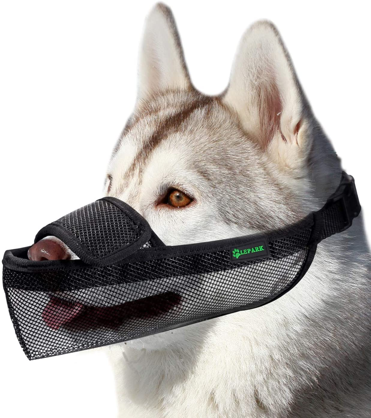 Dog Muzzle Mesh Mask with Velcro for Small, Medium and Large Dogs, Anti Biting, Barking and Chewing, Ajustable and Breathable