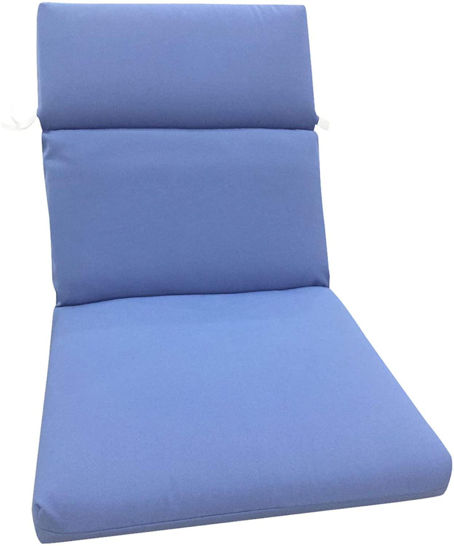 BrylaneHome Universal Chair Cushion Patio Cushion, Ocean Blue
