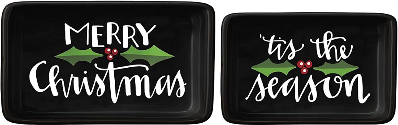Primitives By Kathy Kitchen Serverware Tinket Tray Set Merry Christmas Tis The Season