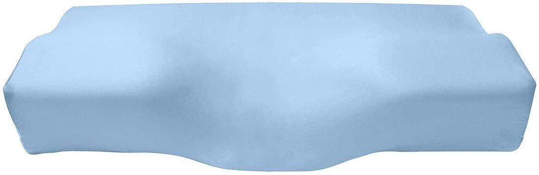 Cozysilk Silk Pillowcase for Orthopedic Sleeping Pillow, Pure Mulberry Silk Pillow Cover for Ergonomic Cervical Pillow, Contour Memory Foam Pillow Pillow Case (Butterfly Shape 24x14 inch, Grey Blue)