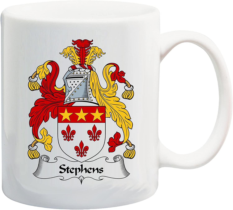 Stephens Coat of Arms/Stephens Family Crest 11 Oz Ceramic Coffee/Cocoa Mug by Carpe Diem Designs, Made in the U.S.A.