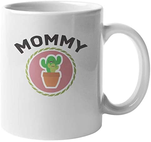 Mommy Cactus Graphic Coffee & Tea Mug for New Mom, Mama or Women (11oz)