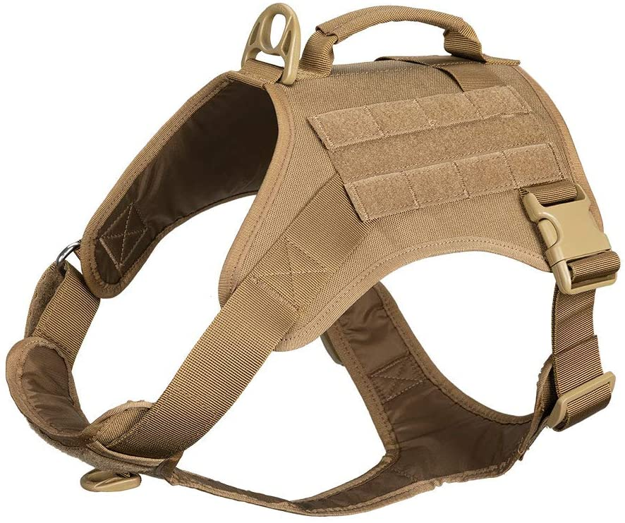 EXCELLENT ELITE SPANKER Tactical Dog Harness Vest with Handle Military Dog Harness Adjustable Training Harness No Pull Dog Harness for Small Medium Large Dogs