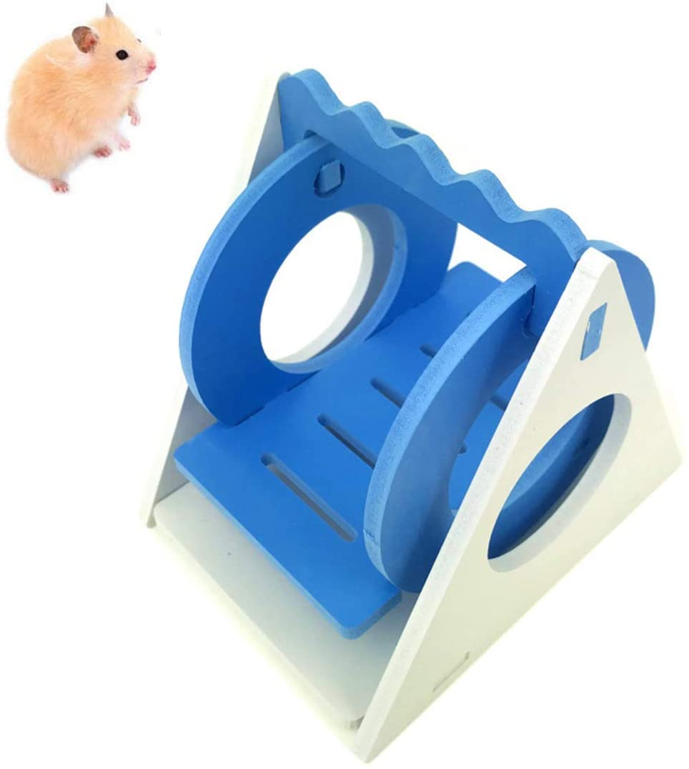 MOUISITON 1PCS Hamster Triangle Swing Hamster Toy Hamster Hiding Ladder Rat Climbing Toy Small Animal Accessories for Gerbils, Guinea Pigs, Chinchillas and Other Small Animals