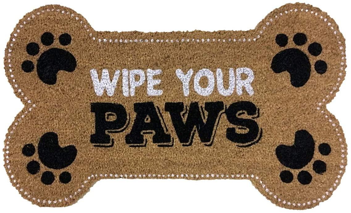 Briarwood Lane Wipe Your Paws Pet Coir Doormat Natural Fiber Animal Lover Outdoor 18