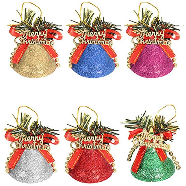 yijiwei Color Bell Christmas Tree Bell Party Decorations Bell Christmas Ornaments Xmas Bell Christmas Tree Hanging Decor Bell (A)