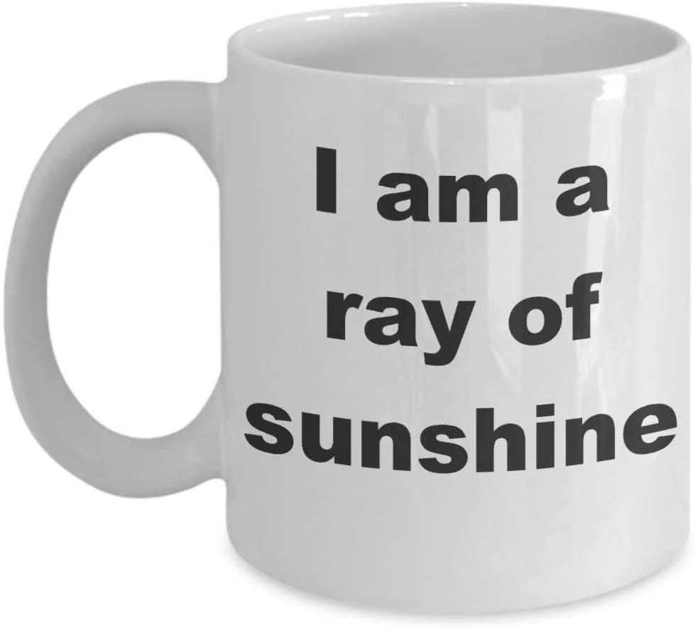 I Am A Ray Of Sunshine Mug Happy Go Lucky Gift Coffee Tea Cup