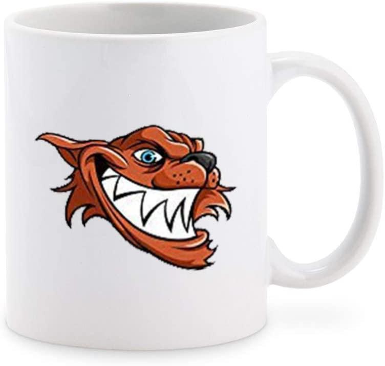 Scary Evil Smiling Werewolf Wolf Head Cartoon Coffee Mug Tea Cup Novelty Gift Mugs 11 oz