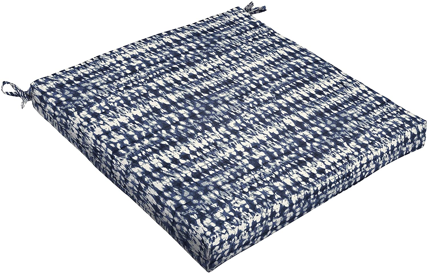 Humble and Haute Porter Indigo and Navy Graphic Indoor/Outdoor Square Chair Cushion White