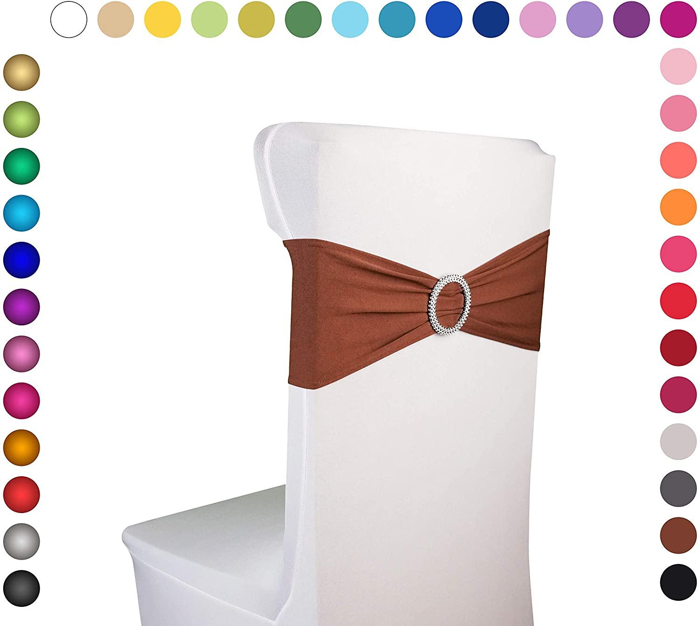 Razbees Wedding Chair Sash Covers 6