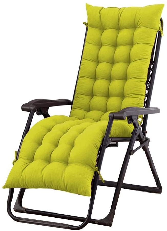 Patio Chaise Lounge Rocking Chair Cushions, Indoor Lounger Cushion Thick Large Soft Chair Sofa Pad, Perfect for Indoor Outdoor Recliner