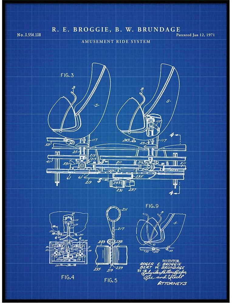 Vintago Haunted Mansion Ride, Omnimover Patent Print, Disneyland Poster Print, Disney World Blueprint Art, Kids Room Decor, Childrens Gift, QP587
