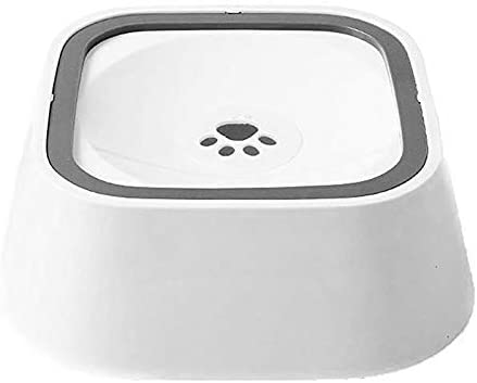 YChoice365 Dog Water Bowl, 1.5L Floating Pet Water Bowl Slow Water Feeder Dog Bowl No-Slip Pet Water Dispenser No Spill Dog Bow
