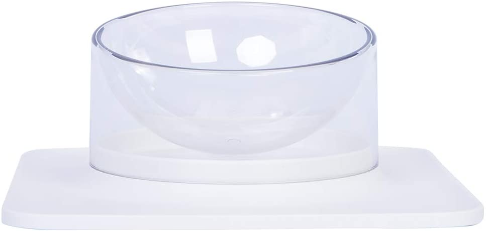 Nourse CHOWSING Cat Bowls Pet Elevated Bowls No Tip Non Spill Non Slip Cat Bowls White Cat Water Bowl