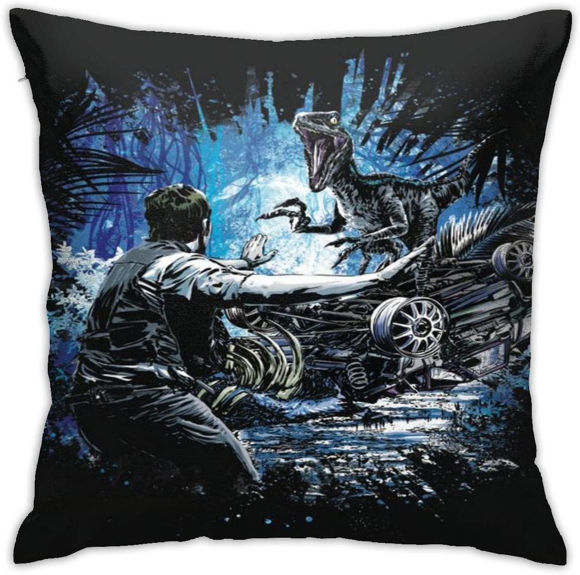 Dinosaur Velvet Throw Pillow Cover Decor Unique Pillows Case Square Cushion for Sofa Couch Home Decoration 18