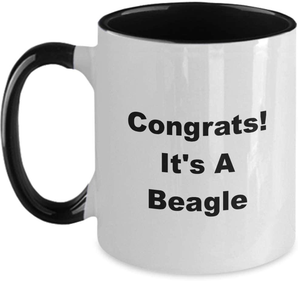 Congrats It's a Beagle Dog Funny Novelty Coffee Cup Mug Gift Idea Stocking Stuffer