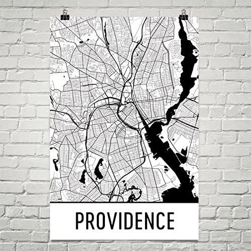 Providence Poster, Providence Art Print, Providence Wall Art, Providence Map, Providence City Map, Providence Rhode Island City Map Art,Providence Gift,Providence Decor,( 24