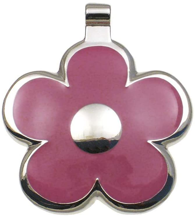 LuckyPet Flower Jewelry Pet ID Tag for Dogs and Cats, Easy to Read Personalized Engraving on Back Side