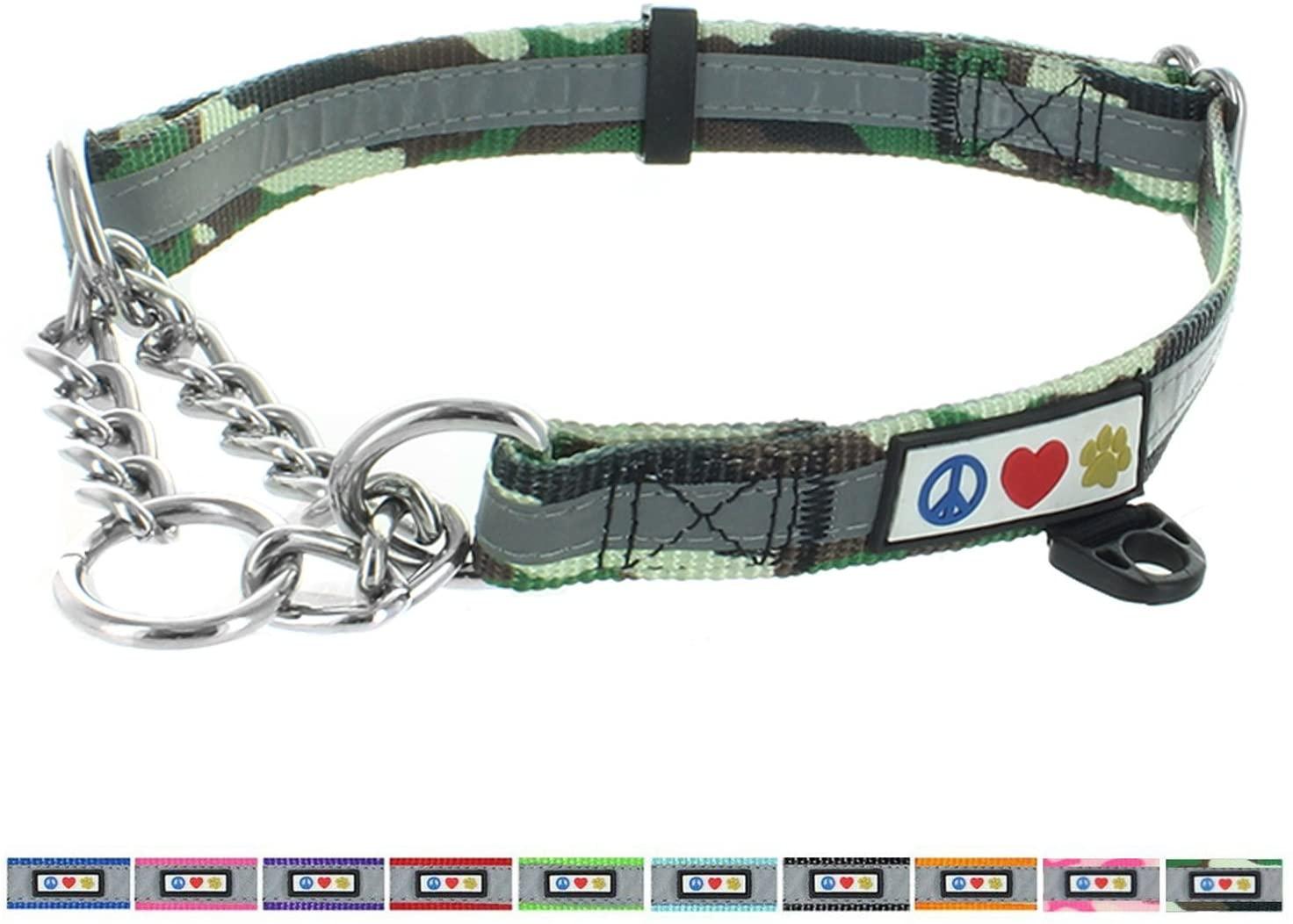 Pawtitas Chain Martingale Dog Collar Puppy Collar Reflective Dog Collar Training Dog Collar Behavioral Dog Chain Collar Collar Puppy Obedience Dog Collar Martingale Dog Collar