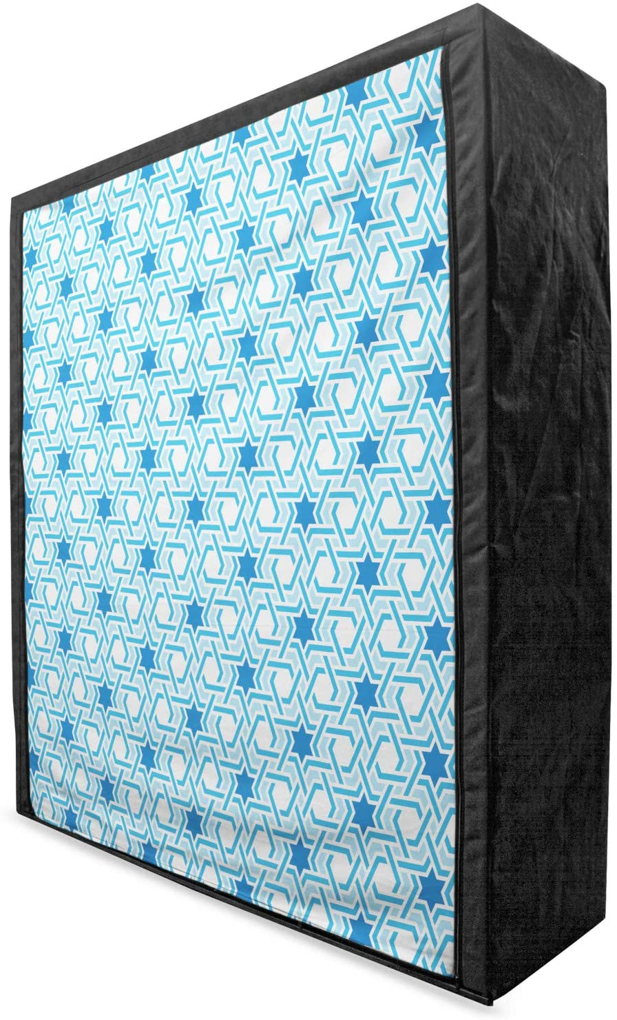 Lunarable Orient Portable Fabric Wardrobe, Old Historical Oriental Ottoman Artwork with Pattern of Stars Geometric Art, Clothing Organizer and Storage Closet with Shelves, 59