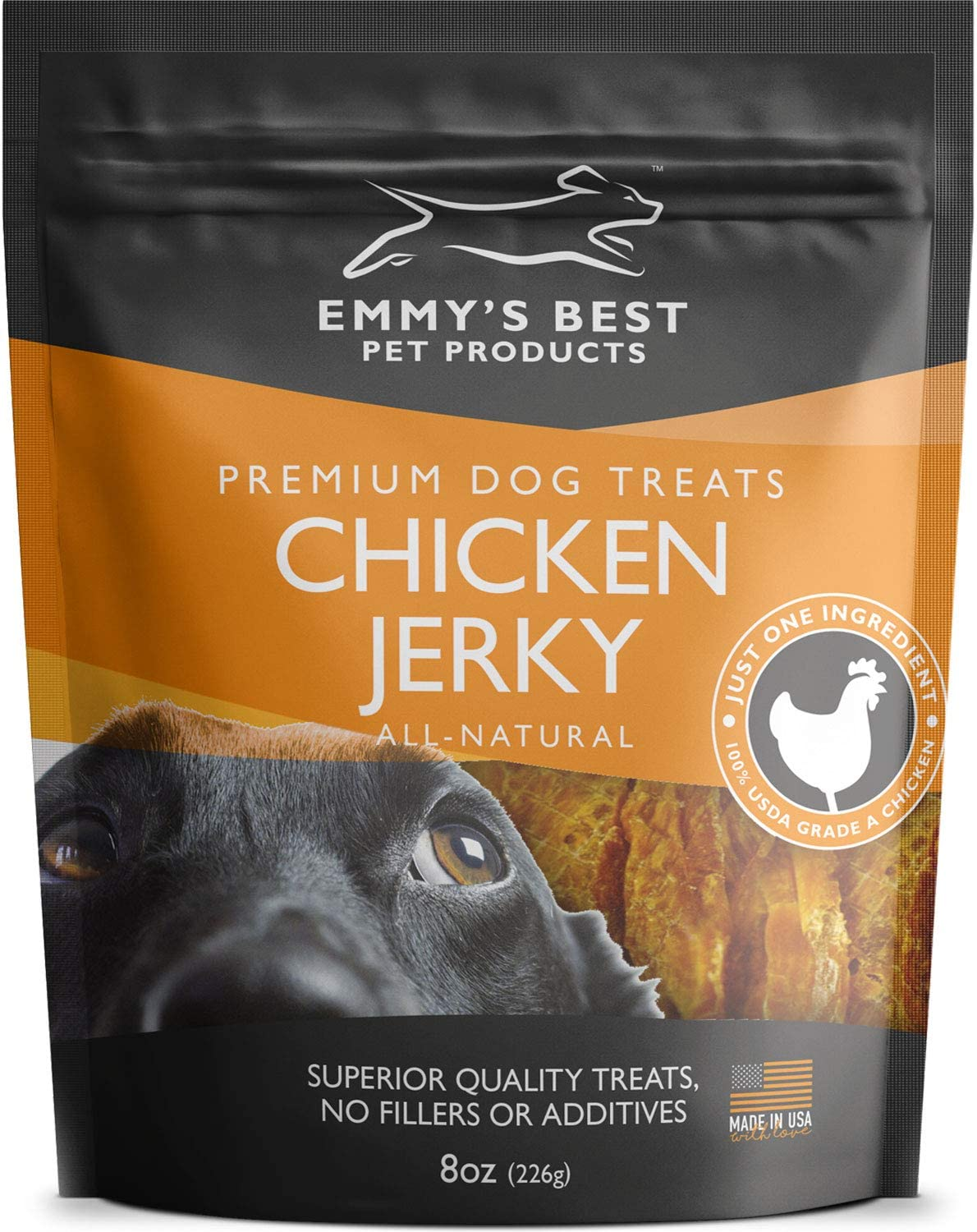 Emmy's Best #1 Premium Chicken Jerky Dog Treats Made in USA Only All Natural - No Fillers, Additives or Preservatives