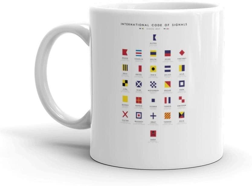 International code of signals nautical flags 11 Oz Ceramic