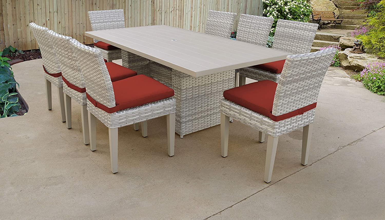 TK Classics Pub-WITHBACK-4 Fairmont Bar Furniture Dining Set, Terracotta
