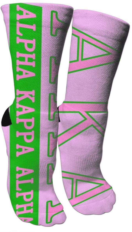 antkondnm Alpha Kappa Alpha (3) All-Season Cotton Crew Work Socks