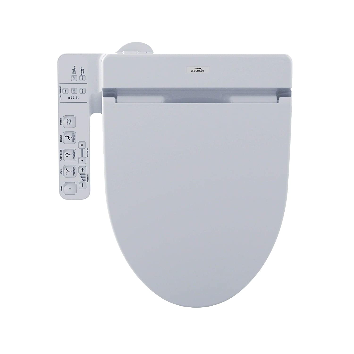 Toto C100 Elongated Bidet Seat SW2034T20#01 Cotton White with Remote Control