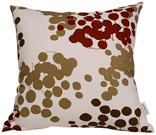 TangDepot174; 100% Cotton Floral/Flower Printcloth Decorative Throw Pillow Covers/Handmade Pillow Shams - Many Colors, Sizes Avaliable - (16x16, S16 Red Grape)