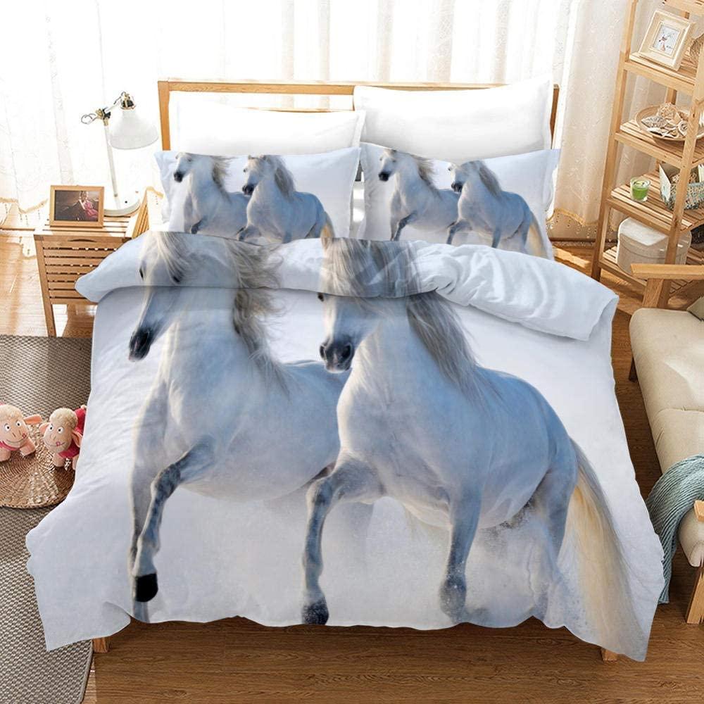 926 3D Polar Bear Bedding Cute Polar Bear Prints Duvet Cover Set, 2 Pieces Soft Bedroom Sheets Set, Twin Size Kids Bedding