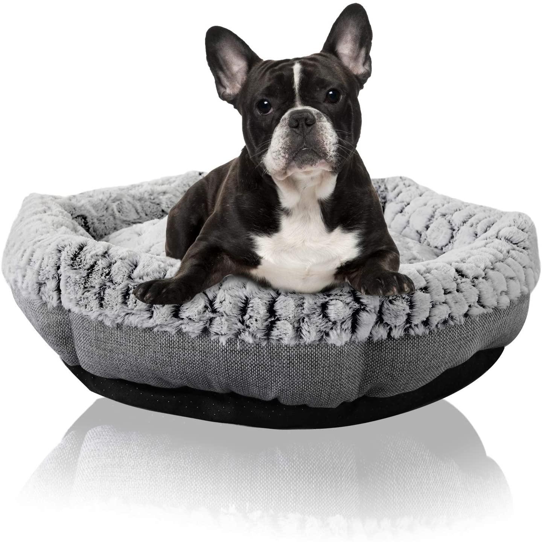 Hexagon Pet Bed - Machine Washable - Comfortable Memory Foam - Ultra Soft Fabric Orthopedic - Self Warming Dog & Cat Bed
