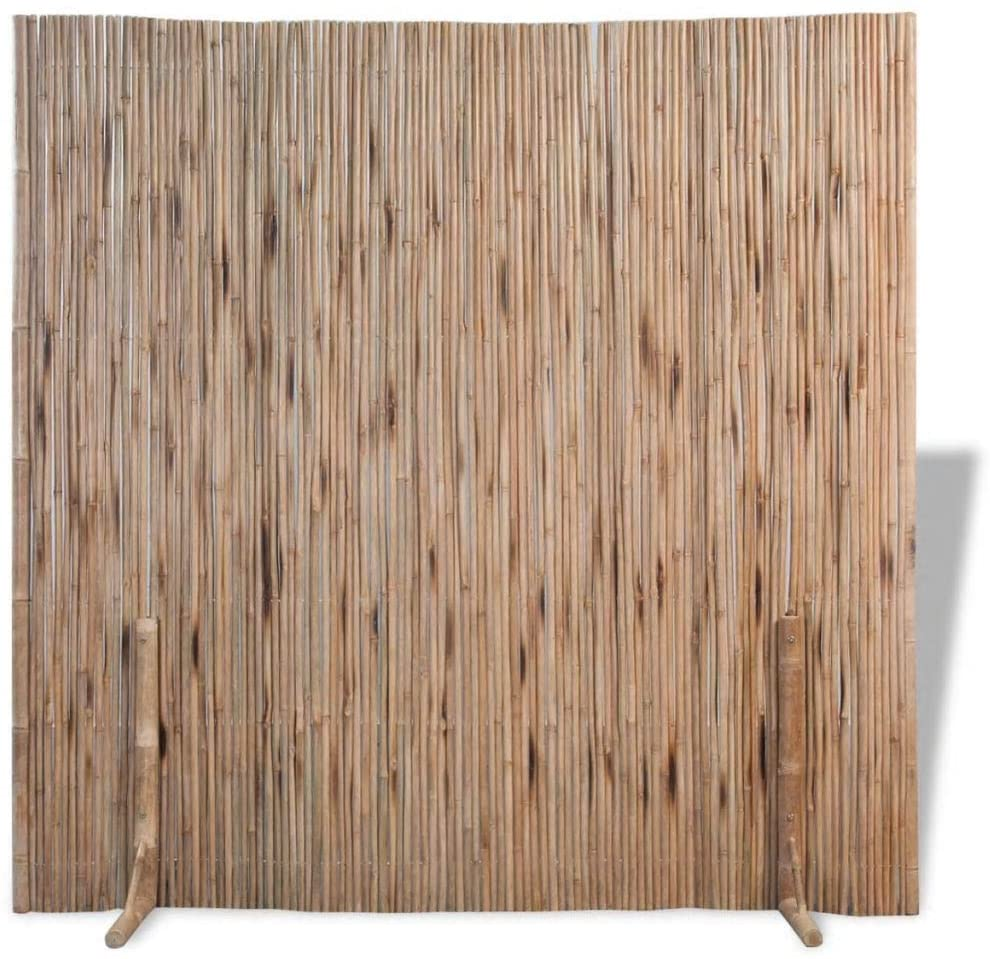 Lepeuxi Bamboo Room Divider Privacy Screen Fence 70.9