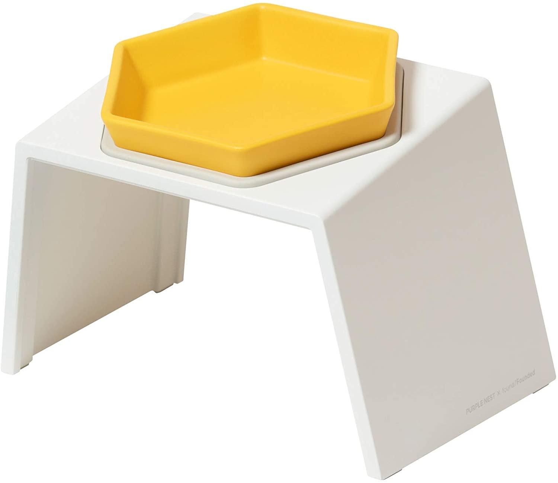 Nest Bowl Ceramic Cat Food Bowl I Raised Cat Food Bowl I Elevated Cat Bowl I Tilted Cat Bowl I Cat Bowl No Spill I Stress Free Bowl