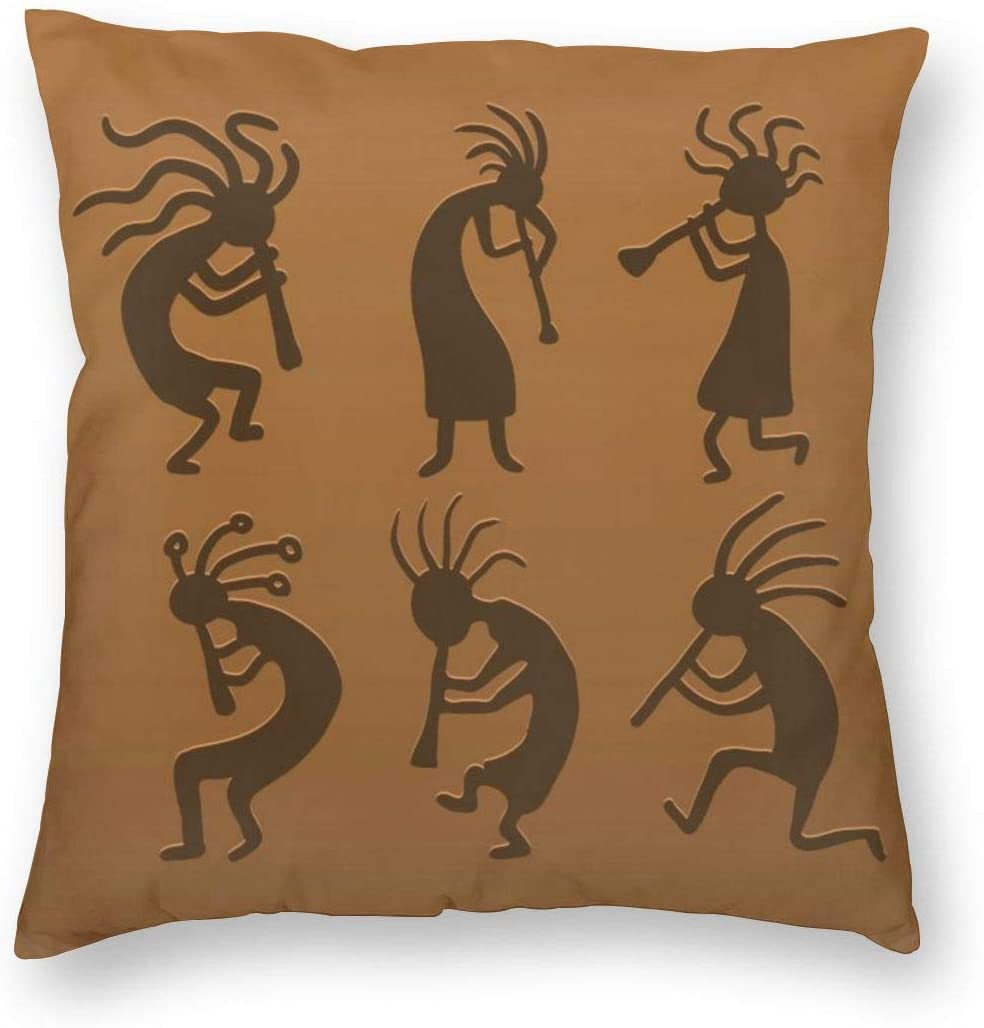 NewBHomeHome Vector Kokopelli Square Home Decor Square Throw Pillowcase Pillow Protector Best Pillow Cover