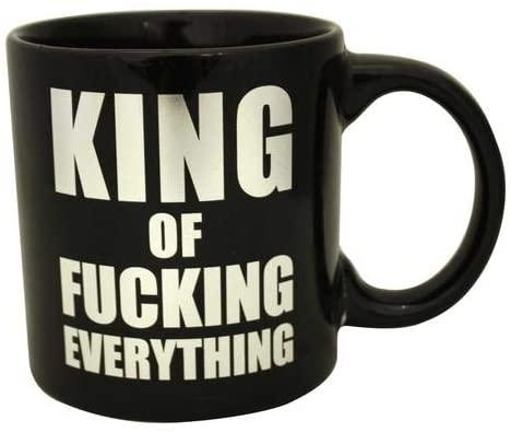 Sunbelt Gifts Giant King ofcking Everything Foil Mug