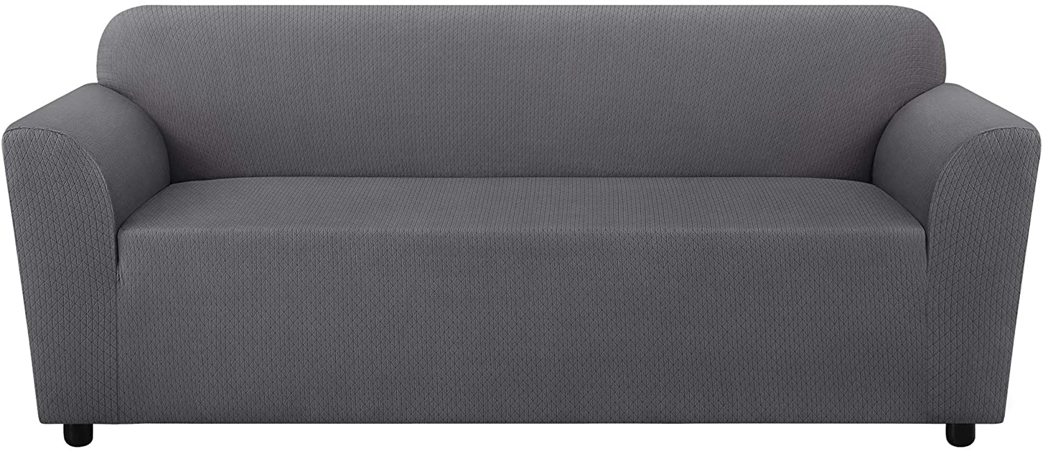 ReadyFit by SureFit Stretch Triangle Slipcover in Our Patented 1-Piece Design, Stretches to Form Fit Most Sofas up to 88
