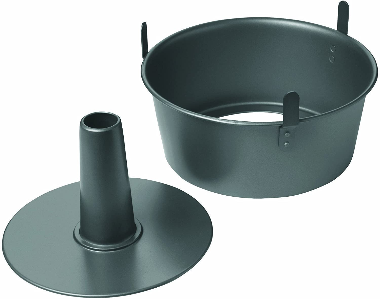 Chicago Metallic Professional 2-Piece 9.5-Inch Angel Food Cake Pan with Feet, 9.5
