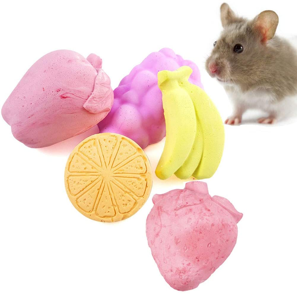 Hamiledyi Chinchilla Lava Block Calcium Stone Teeth Grinding for Hamster Bunny Rabbit Rats Mouse Squirrels Chew Toys