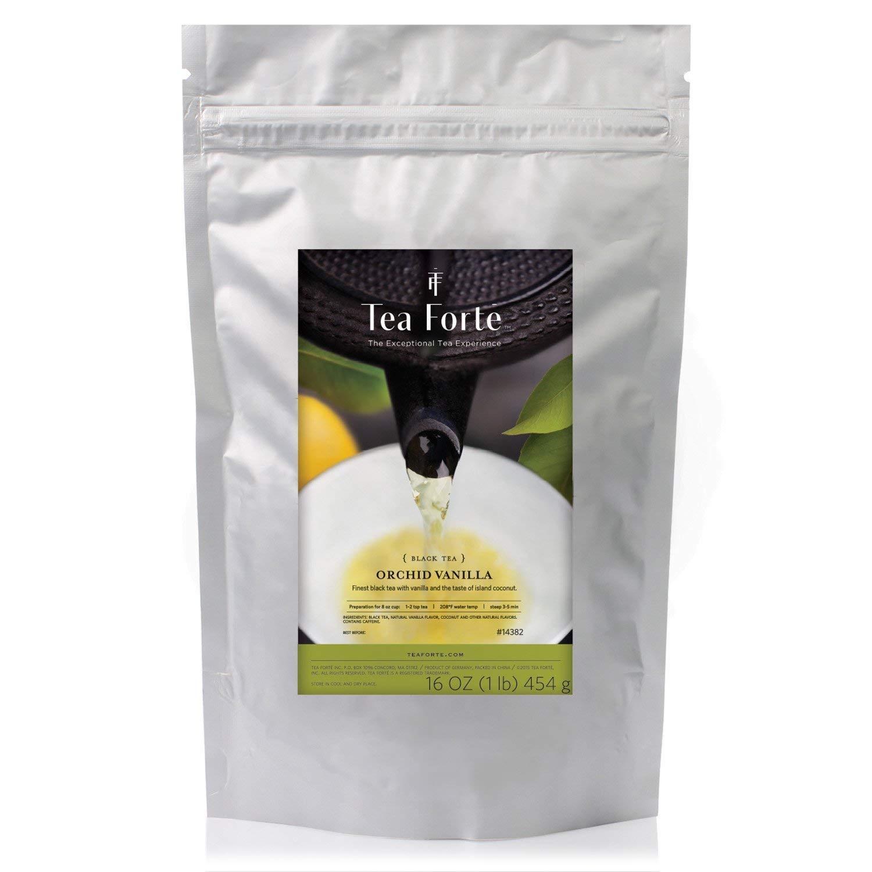 Tea Forte Orchid Vanilla Loose Bulk Tea, 1 Pound Pouch, Black Tea Makes 160-170 Cups