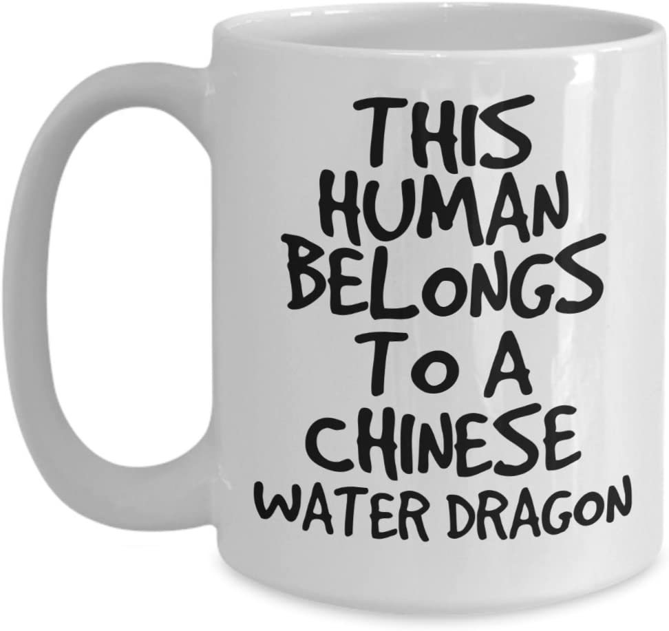 Chinese Water Dragon Mug - White 11oz 15oz Ceramic Tea Coffee Cup - Perfect For Travel And Gifts