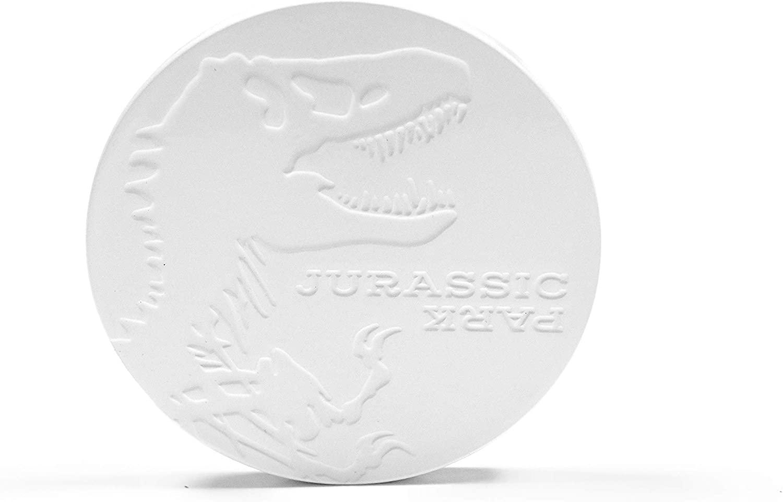 Jurassic Park Tyrannosaurus Rex Logo Coaster | Single Heavy Duty Ceramic Dinosaur Coaster | 4 Inches Round