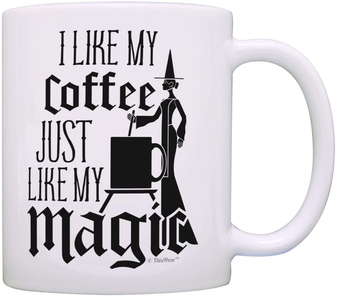 Witch Mug Like My Coffee Just Like My Magic Coffee Mug Halloween Cup Witch Coffee Mug Tea Cup White