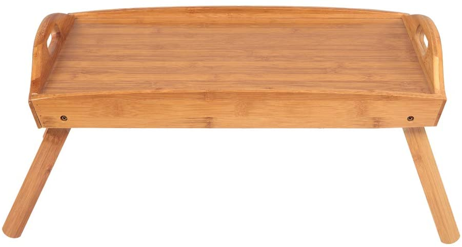 [US-W]Foldable Curved Breakfast Tray Burlywood (Wood color)