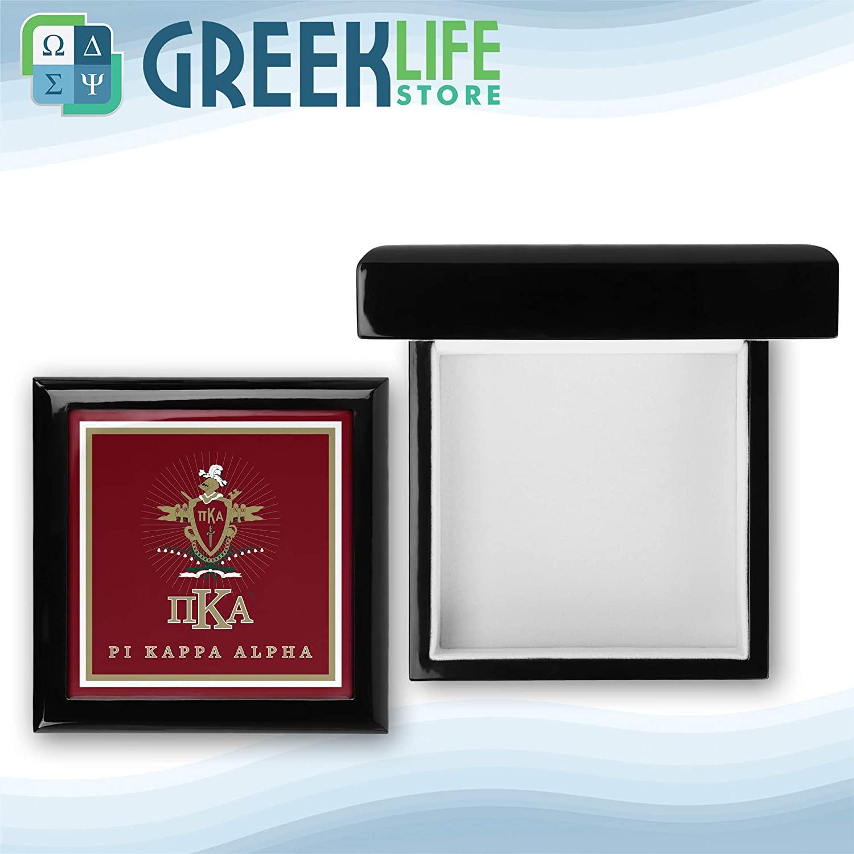greeklife.store Pi Kappa Alpha Wooden Keepsake Box